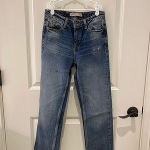 Zara straight leg jeans size 00 23
